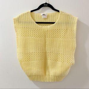 2/25 🍉 softest knit yellow sweater vest